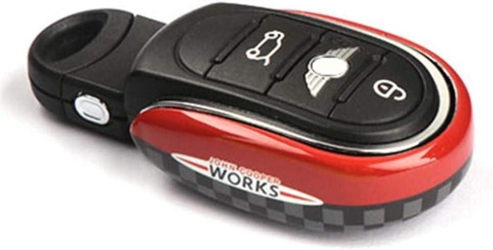 Funda Llave Coche C/áscara Llave For Mini Cooper S F54 F55 F56 F60 Accesorios Union Jack Car Styling Clave la decoraci/ón del bolso llavero Caso cubierta de la cubierta del protector Accesorios de coche