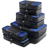 Wanderlite Packing Cube Set - 8 Pcs Travel Luggage Packing Organizer Bag Set