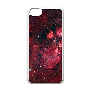 Iphone 5C Case, Red Heart Shaped Nebula Case for Iphone 5C white lm2c17896558