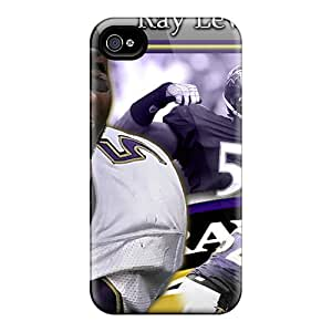 Iphone 4/4s LAj3667VQNJ Allow Personal Design Colorful Baltimore Ravens Image Shock Absorbent Hard Phone Case -SherriFakhry