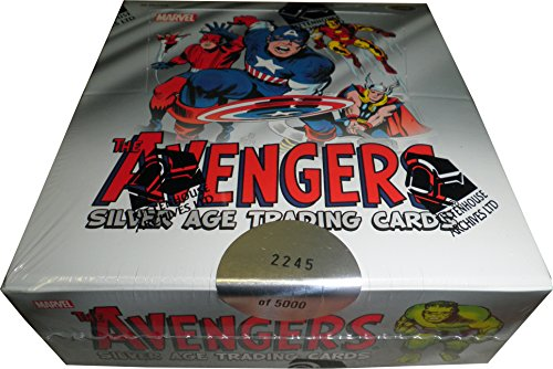 Marvel Avengers Silver Age Factory Sealed Trading Card Box of 24 Packsの商品画像