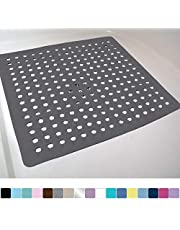 Gorilla Grip Original Patented Bath, Shower, and Tub Mat, 21x21, Machine Washable, Antibacterial, BPA, Latex, Phthalate Free, Square Bathroom Mats with Drain Holes and Suction Cups