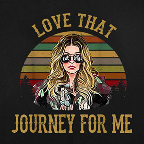 Women Vintage Graphic T-Shirts Love That Journey for Me Retro Novelty Casual Tees Tops Black