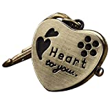 Youyoupifa Heart-shaped Bronze Alloy Keychain Quartz Watches (Unisex)