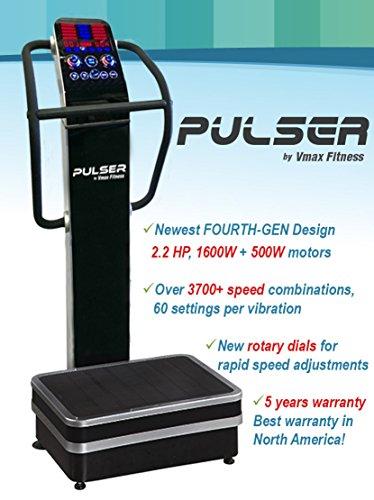 Cheap PULSER Whole Body Vibration Machine; Newest 2014 DUAL vibration, 3 vibration modes; Premium Home; 440 lb limit, rear wheels;