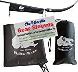 "Chill Gorilla SNAKESKIN SLEEVES Instant stuff sack & protective cover for hammocks, rain flys, tarps. 173"". Tube packs or unpacks your gear in seconds. ENO camping & backpacking accessory. Gray"