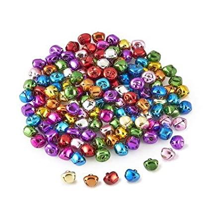 Zirrly Colored Craft Jingle Bells, Pack of 144, 5/8 Inch 16mm 4336848470