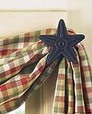 Park Designs Cast Star Curtain Hooks, Black, Set of 2