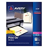 Avery Print-On Dividers, 8 Tabs, Ivory, Laser/Ink Jet, 1 Pack (11529)