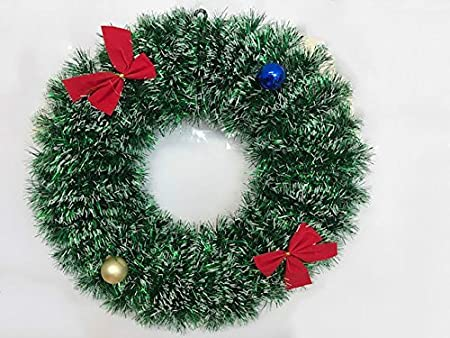 new luxury artificial red christmas wreath snowy decoration baubles berries indoor outdoor greenwhite