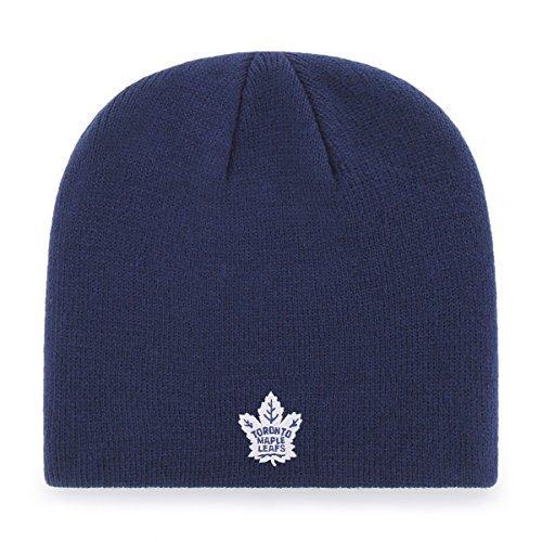 OTS NHL Toronto Maple Leafs Beanie Knit Cap, Light Navy, One Size