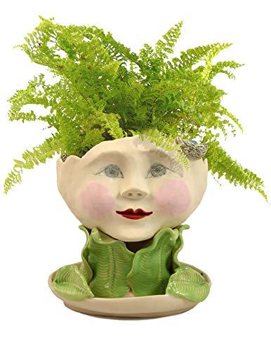 Victorian Lovelies Sculpted Indoor Head Planter Flaunting Flora Version