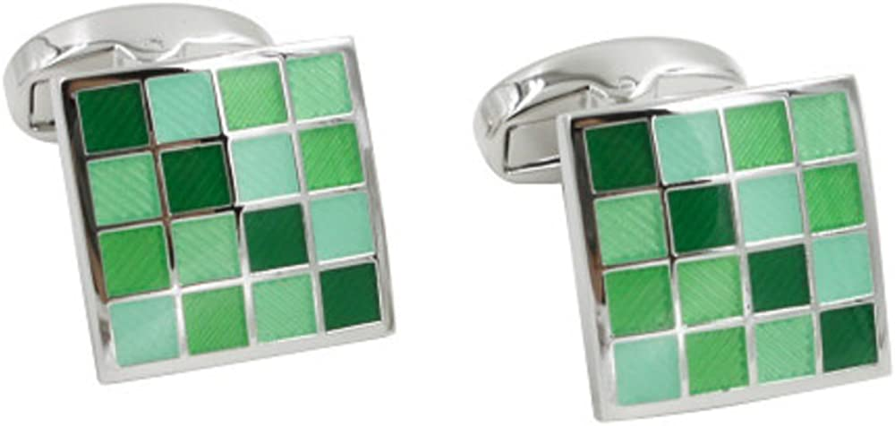Jade Coral Green Cufflinks | 35th Wedding Anniversary Gift | Husband Gift for Men | Marriage Ceremony Present