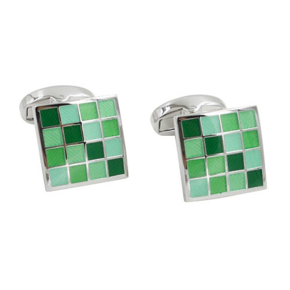 Jade Coral Green Cufflinks   5 Yr Warranty   Gift Box Inc   35th Anniversary Gift