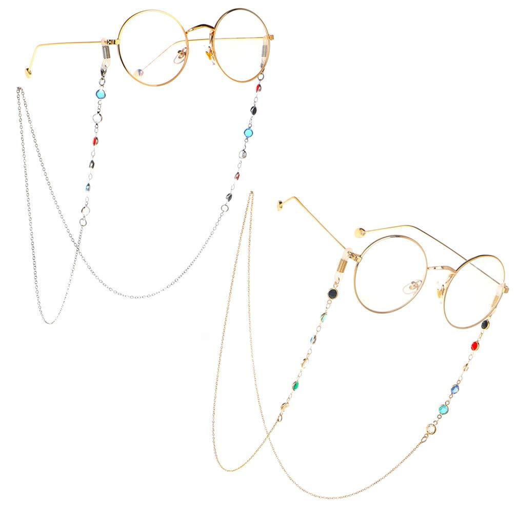 Brillenb/änder /& ketten f/ür Damen Glasses Chain Farbige Brillekette Lesebrillen Brillen Cord Brillenb/änder Band Kette Brille Hals Cord