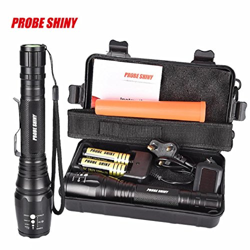 8000 lumens DBHAWK G700 X800 CREE XML T6 LED Zoom Tactical Military Flashlight Super Torch Set,Including Fluorescent stick+Solar Power Torch Key Chain
