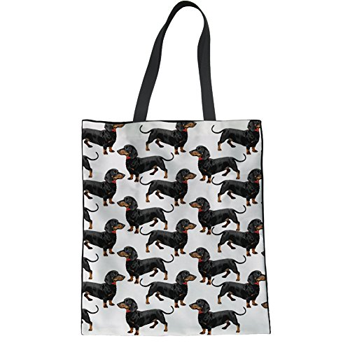 Animal 8 1 multicolore Main Coloranimal En Bandoulière h9885z22 À Cartoon Animal K Dachshund tout Toile Sac Femme Fourre Imprimé Mignon Chien Zc6CqWZwfr