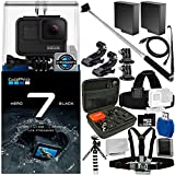 GoPro HERO7 Black 18PC Accessory Bundle - Includes 32GB microSD Memory Card + High Speed Memory Card Reader + Memory Card Wallet + More