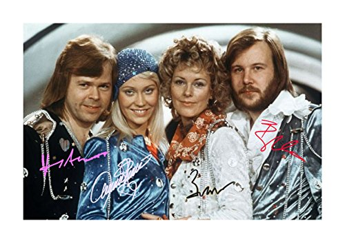 Engravia Digital ABBA (3) Poster Signed Autograph Reproduction for sale  Delivered anywhere in USA