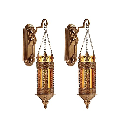 Image of Home and Kitchen Design Toscano Kinnaird Castle Hanging Pendant Wall Sconce (Set of 2)