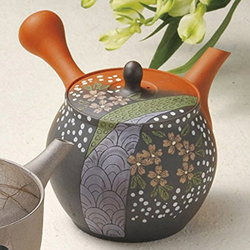 Japanese ceramic Tokoname ware. Kyusu teapot. 280cc