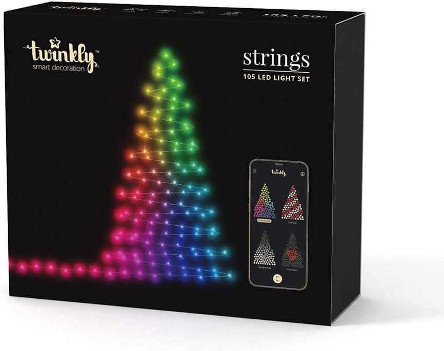 Kurt Adler Twinkly LED Starter Kit 105-Light Wifi-Enabled Light Set