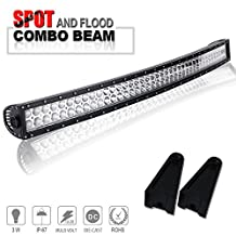 Curved 40 42In Combo Led Light Bar On Grille Front Bumper Roof Rack Bar For Truck Dodge Ram 1500 Polaris Ranger Jeep Silverado Toyota Tacoma FJ Cruiser Can Am WV UTV SxS Ford F150 F250 Cherokee Honda