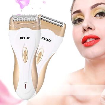 Afeitadora eléctrica para mujer, 4 en 1, recargable, depilación ...