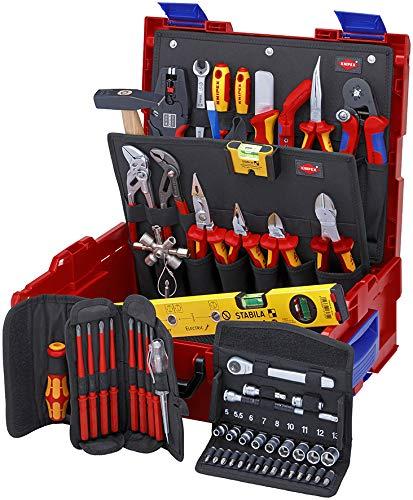 Set of 65 Pieces Multi-Colour Knipex 00 21 19 LB E L Electric Tool Box