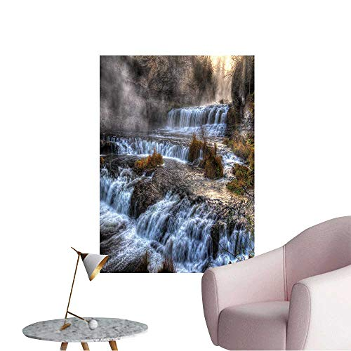 Vinyl Wall Stickers Colorful Scenic Waterfall in High Dynamic Range. Perfectly Decorated,20