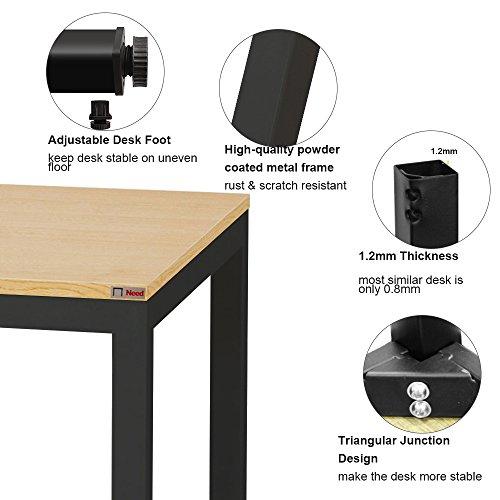 "Need Computer Desk 55"" Large Size Office Desk Workstation for Home & Office Use, Teak AC3BB-140"