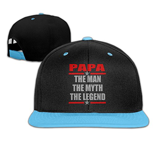 girl-papa-the-man-myth-legend-adjustable-snapback-trucker-hats-royalblue