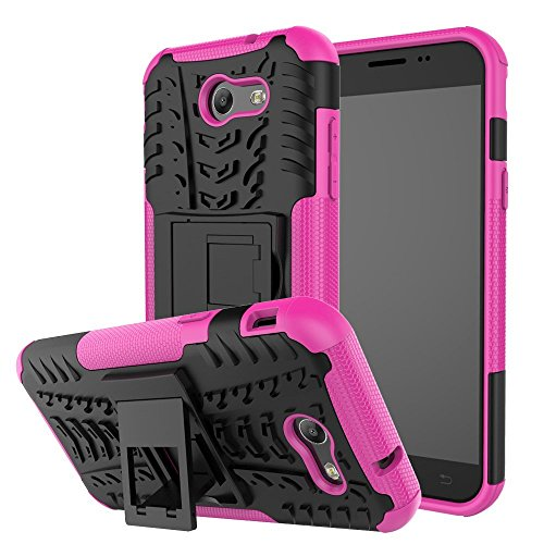 Price comparison product image Galaxy J3 Emerge Case, GalaxyJ3 (2017) Case, VPR [Stand] Premium Dual Layer Shockproof Impact Protection Tough Rugged Protective Case with Kickstand for Samsung Galaxy J3 Emerge / J3 (2017) (Rose)