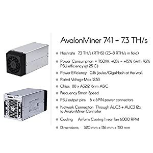 AvalonMiner 741 - 7.3 TH/s
