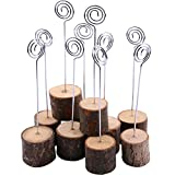 wire card holder - Dedoot 20PCS Tree Branches Wedding Menu Seat Clip Wooden Photo Holder Wood with Wire Business Card Holder Decoration