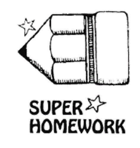 Center Enterprise CEJ9878'Teacher Homework Pencil' Jumbo Stamp
