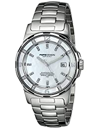 Momo Design Women's MD093-E02SL-MB Pilot Lady Analog Display Swiss Quartz Silver Watch