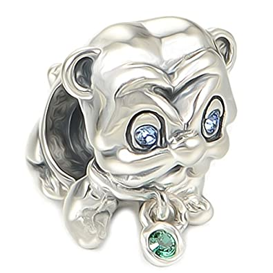 [Sponsored]Cute Pug Dog Charm Bead - Sterling Silver 925 - Gift boxed AzeDaPwQ
