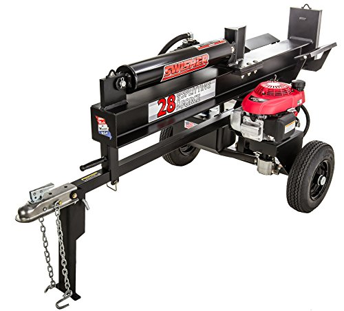 Swisher LSRH5128 5.1HP Honda 28 Ton Direct Drive Log Splitter, Black by Swisher