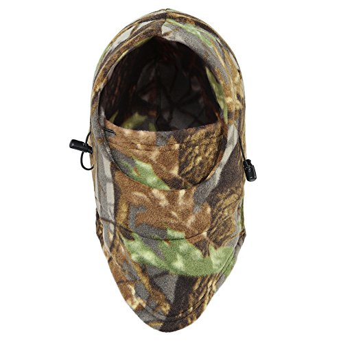 Tagvo Winter Balaclava Full Face Mask Cover, Fleece Tactical Balaclava, Windproof Camouflage Headwear Balaclava for Hunting Fishing (Camouflage RZ15) (Mask Weather Full Face)