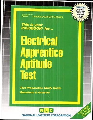 Electrical apprentice aptitude testpassbooks jack rudman electrical apprentice aptitude testpassbooks jack rudman 9780837337777 amazon books fandeluxe Images