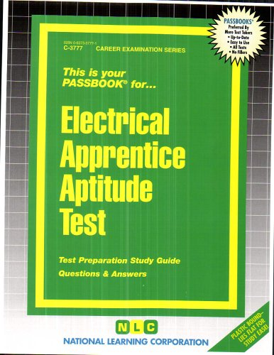 Read Electrical Apprentice Aptitude Test(Passbooks) PDF