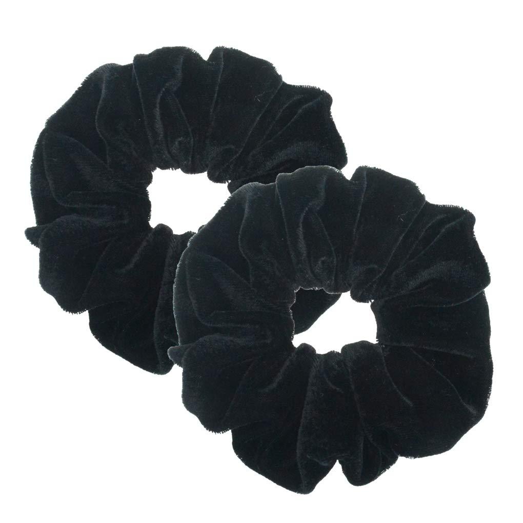 Cream and Black Polka Dot 4cm Large Hair Band Scrunchie Ponytail Brand New