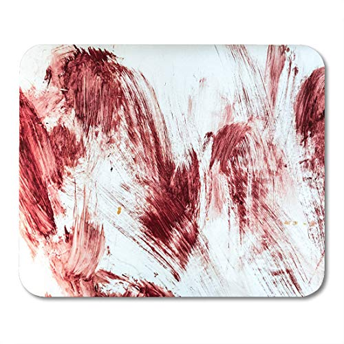Emvency Mouse Pads Red Horror Blood and Bloody Marks in Old Bathtub Halloween Floor Hospital Mouse pad 9.5