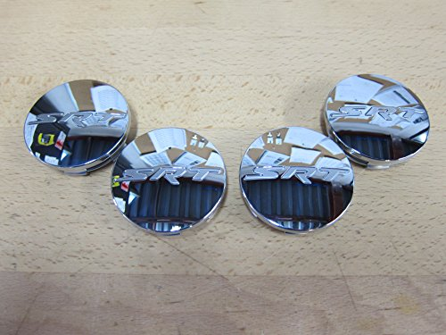 Dodge Challenger Charger Jeep Grand Cherokee Chrome SRT Center Caps Set of 4 OEM