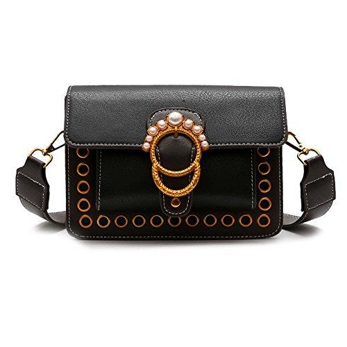 Voguezone009 Studded Fashion Women Pu Handbags Shoulder Bags Casual Crossed, Black Ccaybp180757