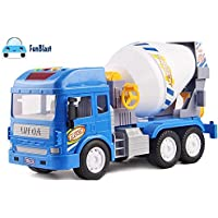 FunBlast Pull Back Vehicles Construction Truck, Friction Power Toy Trucks for 3+ Years Old Boys and Girls, Light & Sound Toy for Kids.