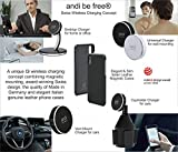 andi be free Wireless Desktop Fast Charger 15W Black, Wireless Charging Station, Qi Compatible, Safe Magnetic Hold, Inductive Charging Station, Wireless and Fast Charging