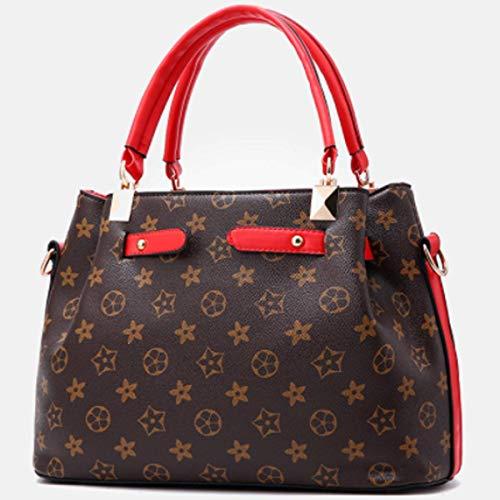 de 1 black moda de ×14 mano de 1 Style de para Bolso estampado poliuretano mujer red Style ×22CM mano 31 Talla con 2018 bolso d07B8ggxqw