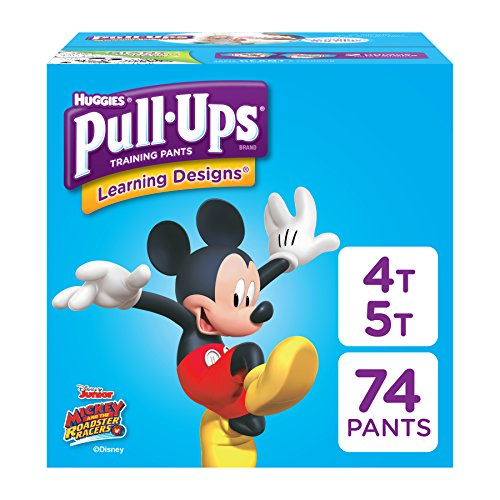 Pull-Ups Learning Designs Potty Training Pants for Boys, 4T-5T (38-50 lb.), 74 Ct. (Packaging May Vary)